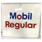 Porcelain Mobil Regular Sign