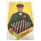 Tin Coca Cola Raised Advertising Sign