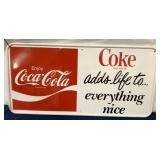 Coca -Cola Painted Metal Sign One Side