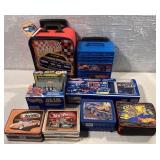 8 asst Hot Wheels items, lunchboxes & others