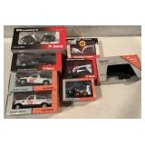 8 Bobcat Die Cast items trucks, loaders & others