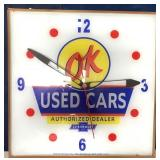 Chevrolet OK Used Cars Light and Clock