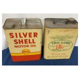 Lot of 2 Motor Oil Cans