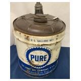 """5 Gallon Oil Can """"Pure"""""""