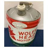 """5 Gallon Oil Can """"Wolf"""
