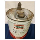 """5 Gallon Oil Can """" Texaco"""""""