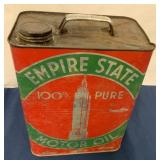 Empire State 2 Galloon Motor Oil Can
