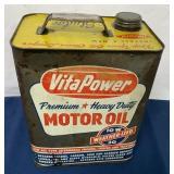 Vita Power 2 Gallon Motor Oil Can