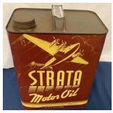 Strata 2 Gallon Motor Oil Can