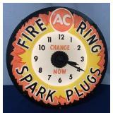 AC Fire Ring Spark Plug light up clock