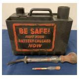 Exide Battery kit w/ fill bulb