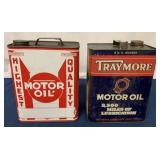 (2) Two Gallon Traymore & Highest Quality oil cans