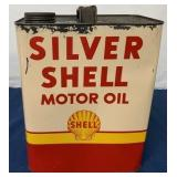 Silver Shell Two Gallon Motor Oil Can