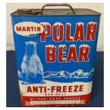 Martin Polar Bear Two Gallon Anti Freeze can