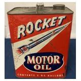 Rocket Two Gallon Motor Oil can
