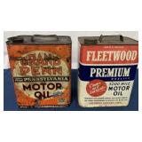 (2) Two Gallon Motor Oil cans, Grand Penn other