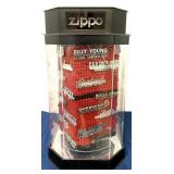 Motorized Zippo display w/ car dealership emblems