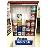 Seloil Amoco Motor Oil Display Service Cabinet