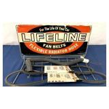 Lifeline Fan Belts belt holder w/ belts & hose
