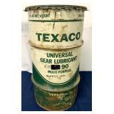Texaco Gear Lubricant can w/ lid