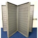 Foldable metal display rack