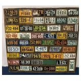 Display of various state license plates
