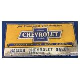 Chevrolet single sided metal sign
