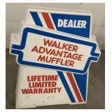 Two sided Walker Muffler dealer sign