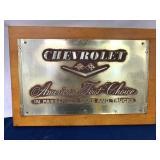 Chevrolet Tin Showroom Plaque