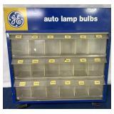 GE Auto Lamp Bulb metal case w/ bulbs