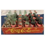 Coca Cola wooden carrier w/ 24 bottles