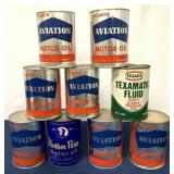 lot of 9 Oil Cans Atlantic, Mother Penn other