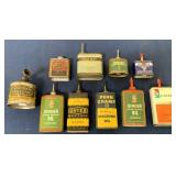 lot of 10 oil cans