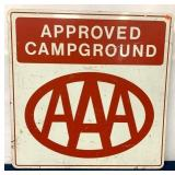 Two Sided AAA Approved Campground Metal Sign