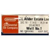 Conoco Continental Oil Company Metal Sign