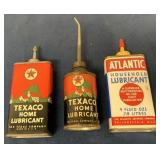 Lot of 3 Atlantic & Texaco Oil Cans