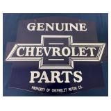 Dual Sided Chevrolet Metal Contemporary sign