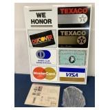 lot of 3,Texaco Credit Card Sign