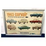 Corvair Advertising in Aluminum Frame