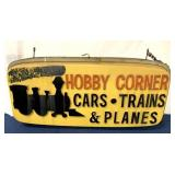 Hobby Corner Display Sign Double-sided