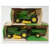 lot of 2 John Deere Lawn & Garden tractors 1/16