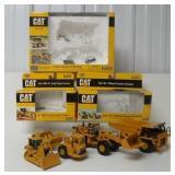 4 Caterpillar pieces 1/64, scraper, truck, & other