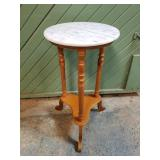 Marble Top Lamp / Plant Stand
