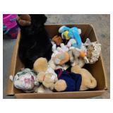 Large Box Of Stuffed Animals Used