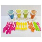 Ceramic Sundae Cups & Poo Plastic Ware