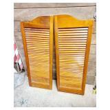 Wood Door Shutters 15 1/2 x 42