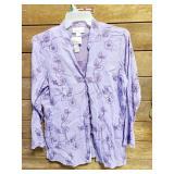 2 Piecs Susan Graver New LG Purple