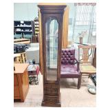 Lighted Wood Curio Cabinet With Drawers