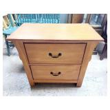 Wood Side Table 2 Drawer