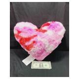 Pink Camo Heart Pillow
